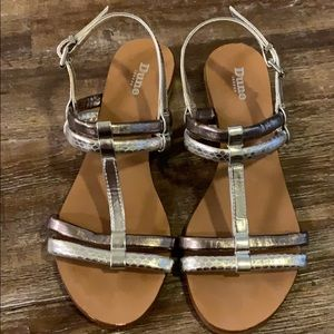 Dune London Metallic Sandals